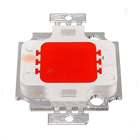 TOOGOO(R) 10W LED COB Chip Fluter Flutlicht Strahler Scheinwerfer Lampe Licht Gluehbirne - Rot