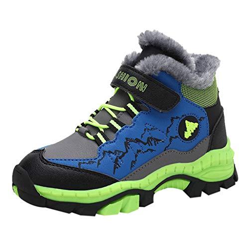 Cuteelf Kinder Freizeitschuhe Jungen sowie Baumwolle Outdoor-Sportschuhe Casual rutschfeste Wanderschuhe Wanderschuhe Outdoor-Wandern Wandern Bequeme Schuhe Wanderschuhe