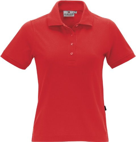 HAKRO Damen Polo-Shirt Performance - 216 - rot - Größe: XL -