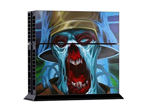 PlayStation 4 - Kit de skins (fundas adhesivas) para consola + 2 mandos de control – Zombie Trooper