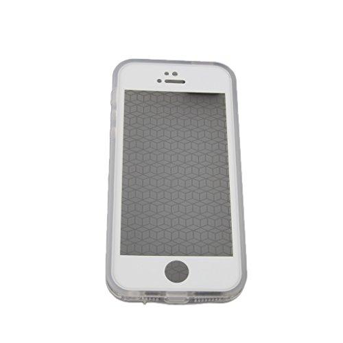 Wasserdichte Handy Case Cover Schutzhülle Tasche Kastenabdeckung für Iphone 5 5s - Schwarz Klar Weiß
