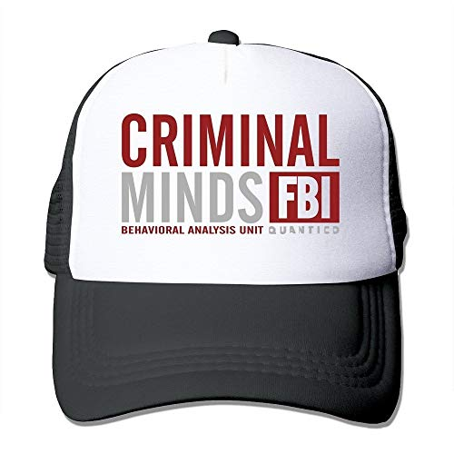 Preisvergleich Produktbild LUPNZ AKANT Quantico Criminal Minds Behavioral Analysis Unit Mesh Back Trucker Hats Black Black