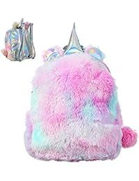 Sungpunet - Mochila de Unicornio Suave con diseño de Unicornio en 3D, Color Rosa