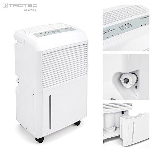 Trotec - Luftentfeuchter TTK 90E (Entfeuchtungsleistung von 30 l / 24 Std.) für Räume mit 90m²