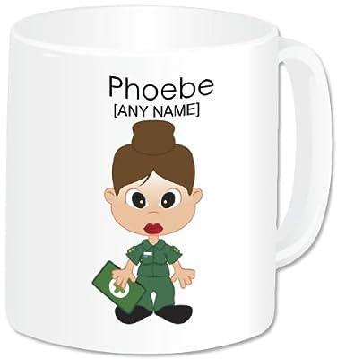 Personalised Paramedic Girl Mug