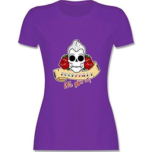Abi & Abschluss - rockABIlly - wir gehen ab! - tailliertes Premium T-Shirt mit Rundhalsausschnitt für Damen Lila