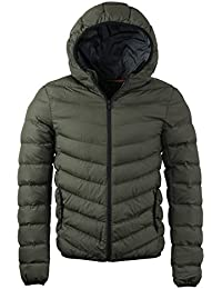 Brave Soul Mens Lightweight Quilted Padded Winter Puffa Jacket Hooded New AW17