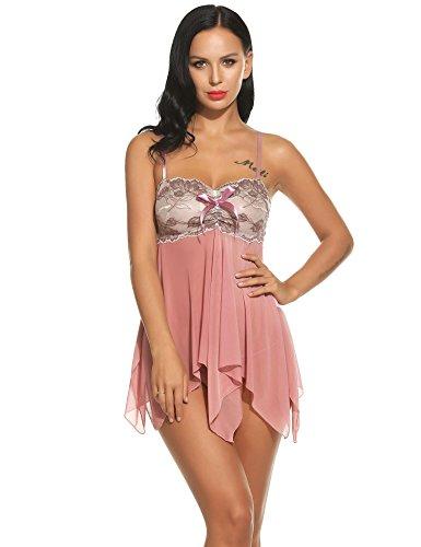 Avidlove-Women-Sexy-Lingerie-Sheer-Mesh-Babydoll-Irregular-Hem-Sleepwear-Nightgown-With-G-String