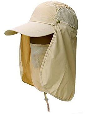 Esterno Sole Cappello Pescatore Devils Cappello Tutto L'asciugatura Rapida Cappello Da Sole UV Di Guida,Beige-AllCode