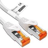 mumbi 1m Cat.6 Ethernet Lan Netzwerkkabel - Cat.6 FTP (RJ-45) 1 Meter Kabel in weiss