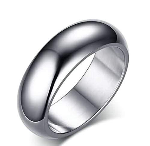 SonMo 925 Silver Ring Herren Siegelring Zum Siegeln Hochglanzpoliert Ring Breit Gravur Silber 7Mm Ringe Paar Wolfram für Männer 60 (19.1)