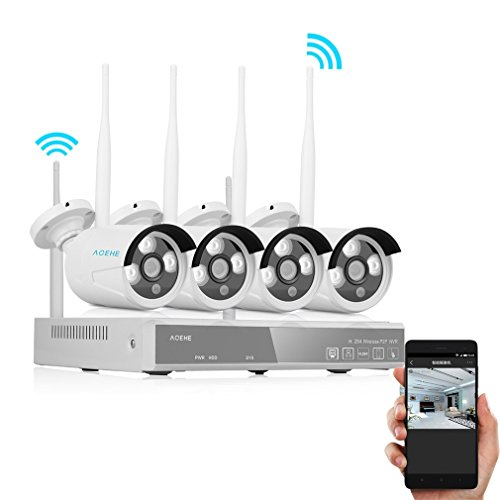 Wireless-Security-Camera-System-ACEHE-1280x960P-P2P-4CH-960P-Wifi-IP-Network-CCTV-Weatherproof-Night-Vision-Home-Camera-Surveillance-System-NVR-Kit-for-Home-Indoor-Outdoor-Smart-Playback-Baby-Monitor-