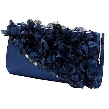 Dame Blumen Abend Tasche Handtasche Mode Handtasche Navy Blue