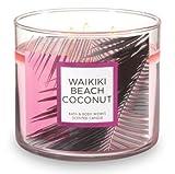 Bath and Body Works 3Docht Duftkerze Waikiki Beach Coconut 14,5Unze mit ätherischen Ölen