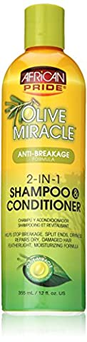 African Pride Olive Miracle Anti-Breakage 2 in 1 Shampoo and Conditioner 355 ml/12 fl.oz