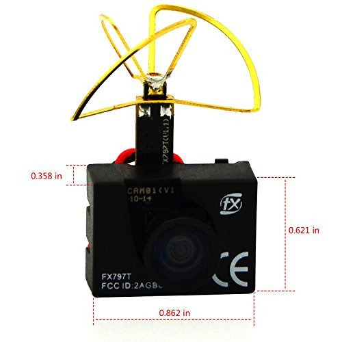 LHI FX797T 3-In-1 Super Mini 5.8G 40ch AV Video Transmitter TX 600TVL Mini Fpv Micro Camera Leaf Antenna Combo For QAV250 Quadcopter Multicopter - 2