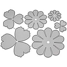 VEMOW Troquelado Kit Gofrado Troquelado Marcapáginas de acero para ventana diseño de flores color ...