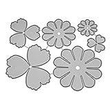 VEMOW Troquelado Kit Gofrado Troquelado Marcapáginas de acero para ventana diseño de flores color plateado (H)