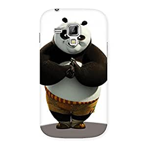 Stylish Punching Panda White Black Back Case Cover for Galaxy S Duos