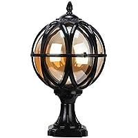 LEGELY Luminaria de aluminio al aire libre del paisaje del globo de la vendimia Lámpara rústica