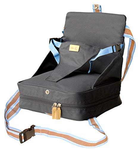 roba Boostersitz, mobiler aufblasbarer Kindersitz als Sitzerhöhung und praktisch für Reisen, blau