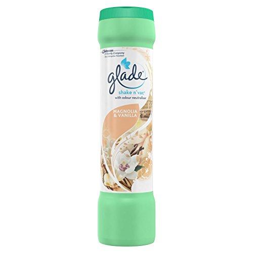 Glade Shake 'N' Vac Teppichreiniger 500g Magnolie und Vanille.