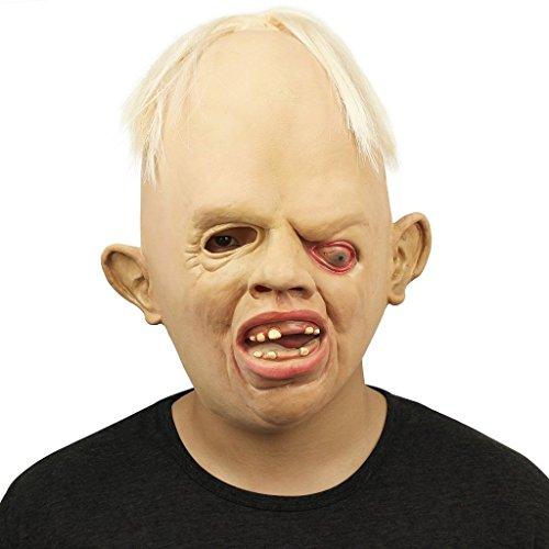 Hibote Halloween Maske Terror Einäugig Maske Latex Maske für Gekleideten Abend/Halloween/Karneval/Masken Party/Cosplay (Party Silvester Masquerade)