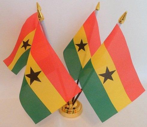Ghanaische Flagge Ghana 4 Table Desktop-Display, Gold