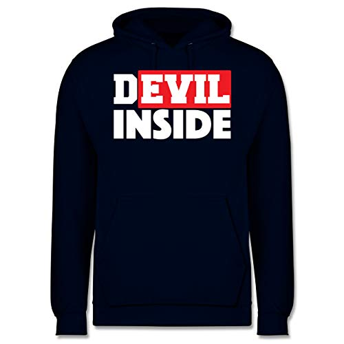 Festival - Devil Inside - Red - XL - Navy Blau - JH001 - Herren Hoodie