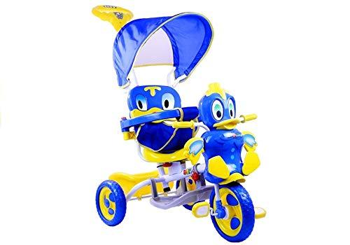 Lean Toys Kinderdreirad Kinderrad Fahhrad Dreirad Entchen Lenkstange Dach Spielzeug neu