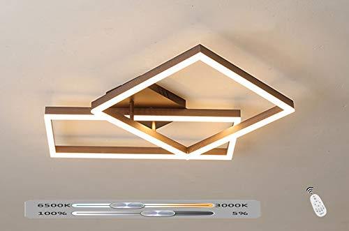 Braune Deckenleuchte Dimmbar Mit Fernbedienung Moderne Deckenlampe Platz Aluminium und Acryl Wohnzimmer Schlafzimmer Küche Innenbeleuchtung Dekoration Licht Deckenbeleuchtung,78 * 52CM