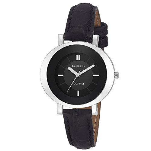 Laurels Black Color Analog Women's Watch With Strap: LWW-DV-VI-020207