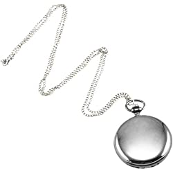 Gleader Cool Chrome Chain Pocket Watch (Silver)