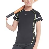 Echinodon Jungen Funktionsshirt Schnelltrockend Sport Shirt Kompressionsshirt für Fitness Running Fußball Training