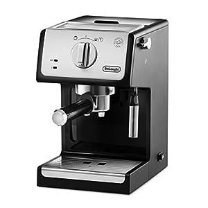De'Longhi ECP33.21 Macchina da Caffè Espresso Manuale e Cappuccino, Caffè in Polvere o in Cialde E.S.E., Argento/Nero
