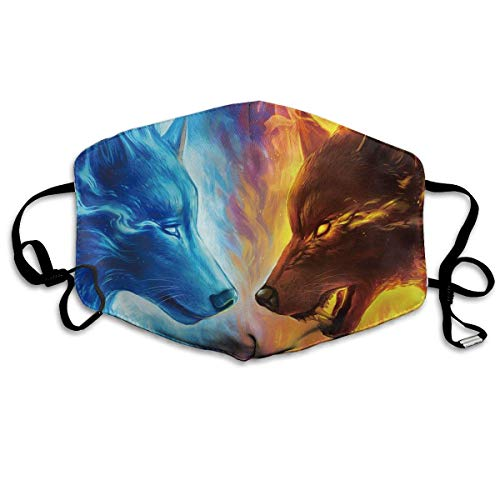 Masken, Masken für Erwachsene,Face Mask Reusable, Warm Windproof Mouth Mask, Cool Fire Ice Wolf Reusable Anti Dust Face Mouth Cover Mask Protective Breath Healthy Safety (Bush-maske)