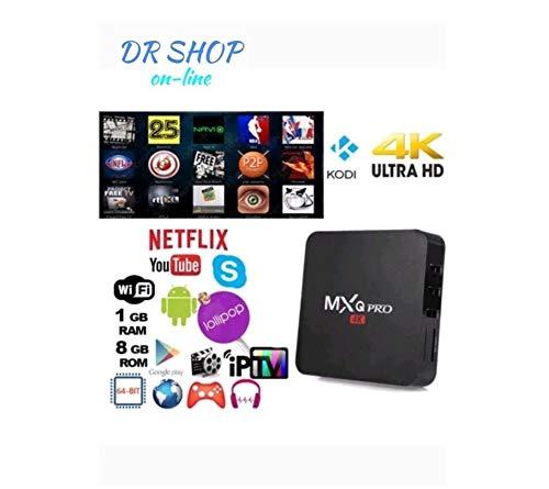 TV BOX ANDROID MXQ PRO 4K SMART IPTV OR7 PENTACORE 64 BIT WIFI RAM 8 GB  MINI PC