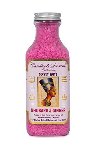 Cristaux Parfumés pour Bain ou Jacuzzi Aromathérapie (Rhubarbe et Gingembre)