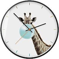 Moderno Sencillo Reloj de Pared Dibujos Animados Casa Art Reloj Mudo, 005, 12inch