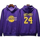 L.A Lakers Kobe Bryant #24 Felpa con cappuccio Gioventù Uomo Name & Number Magliette Sportive da Basket Moda Felpa
