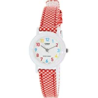 Casio For Women Analog Lq-139Lb-4B Resin Watch, Red Band