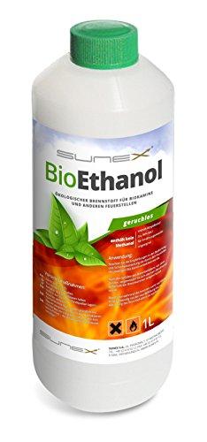 Bioethanol 1 Liter 96,6 % für Ethanolkamine Geruchsfrei Ökologisch Lange Brennzeit