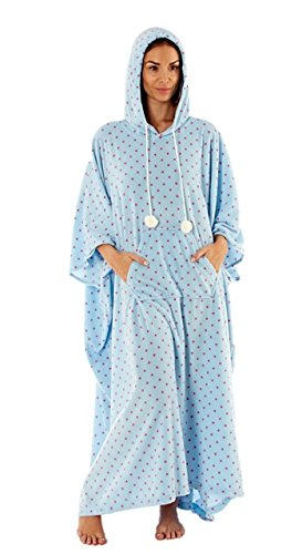 Ladies Poncho Kaftan Loungewear Plus Size Lounger Nightwear Warm - 41x7orHFIrL - Ladies Poncho Kaftan Loungewear Plus Size Lounger Nightwear Warm