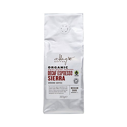 Allegro Coffee Organic Decaf Espresso Sierra Ground Coffee, 227 g 41x7oxHcwkL