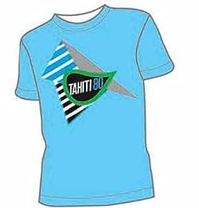 T-Shirt Tahiti 80 Bleu Ciel Logo M (T-Shirt taille Medium)