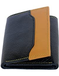 Naysa Men, Wallets Women Formal Black Genuine Leather Wallet (5 Card Slots)
