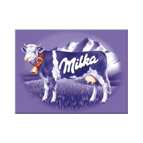 Nostalgic-Art 14073 Traditionsmarken - Milka Kuh, Magnet 8x6 cm - Kuh-magnet
