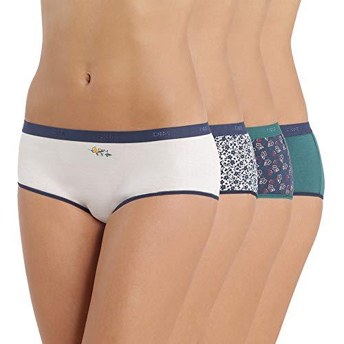 Dim Boxer Pocket Coton x4 Multicolore (Lot Floral 87w), 36 (Taille Fabricant:36/38) (4 Femm