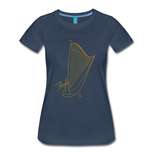 Große Harfe Frauen Premium T-Shirt von Spreadshirt®, L, Navy