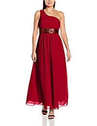 Lange Damen One Shoulder Kleider Pailletten Abendkleider lange Ballkleider Brautjungfern elegante Maxikleider Kleid Cocktailkleider Frauen